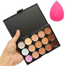 15 Colors Contour Face Cream Makeup Concealer Palette Professional + SPONGE NEW