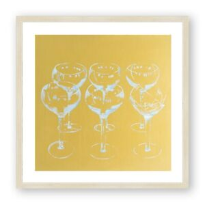 Andy Warhol Style Print , Cocktail Print , Kitchen Art , Champagne Art , Square