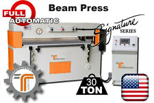 NEW!! CJRTec 30 Ton Full Automatic Beam Clicker Press CNC Die Cutting Machine