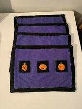 Genuine SONOMA Home Goods Kohl's Halloween Placemats Set of 4 Wool Cotton