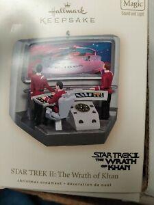 ☄️2007 Hallmark Keepsake Ornament Star Trek II WRATH OF KAHN W/ Lights~Sound