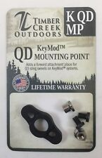 TIMBER CREEK - KeyMod - QUICK DETACH MOUNTING POINT - BLACK - MADE IN USA