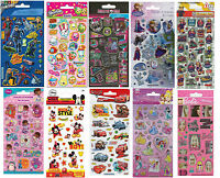 Children's Character Fun Foiled Re-Usable Stickers Party Bag Loot Bag Fillers