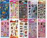 Childrens Character Fun Foiled Re-Usable Stickers Party Bag Loot Bag Fillers
