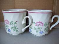 BRIAR ROSE by CHURCHILL 2 Coffee Tea Mug Cups Made In STAFFORDSHIRE ENGLAND
