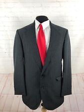 Custommade Men's Dark Gray Stripe Blazer 42L $225
