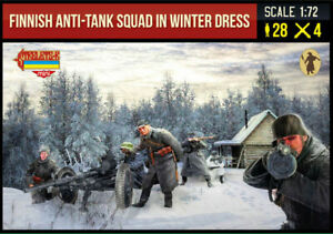 Strelets 1/72 Finnish Anti-Tank Squad in Winter Dress WWII # 246