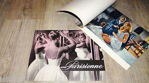 UNE PARISIENNE ! brigitte bardot dossier presse cinema 1957 + synopsis
