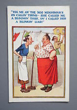 R&L Postcard: Comic, H.B. Ltd, Bickering Neighbours, Washer Women