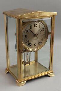 Antique Seth Thomas Gold Gilt Bronze Crystal Regulator Mantle Clock No Reserve