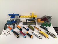 Lot Of Jakks Pacific Power Trains Play Sets Engines Cars