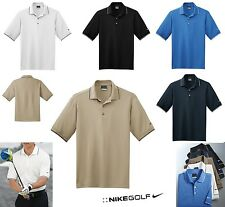 MEN'S NIKE, COLOR TIPPED, GOLF POLO SHIRT, DRI-FIT WICKING, SHORT SLEEVE, XS-4XL