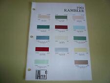 1961 Rambler ARCO Mobil Color Chip Paint Sample