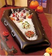 Halloween Party Heavy-Duty Vinyl Inflatable Coffin Casket-Shaped Buffet Server