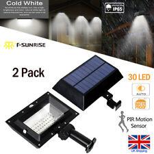 2X PIR Motion Sensor 30 LED Solar Power Light Outdoor Gutter Wall Garden Lamps