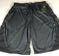 "Game Time Shorts Mens Large Dri-Fit 34"" Actual Waist Stretch Basketball NEW Gray"