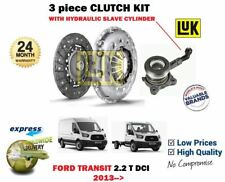 FOR FORD TRANSIT 2.2 DCI BUS VAN 2013-> CLUTCH KIT WITH HYDRAULIC CSC CYLINDER