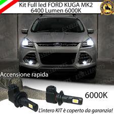 KIT FULL LED H7 CANBUS FORD KUGA MK2 6000K XENON 6400 LUMEN NO ERROR + SUPPORTI