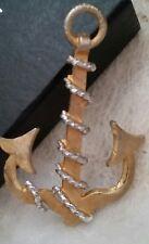 Vintage KJL Kenneth J. Lane Signed Nautical Anchor Dual Pendant & Pin Brooch