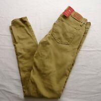 New Levi's Womens 711 0232 Skinny Stretch Khaki Denim Jeans Pants Size 25 x 30