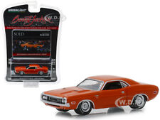 "1970 DODGE CHALLENGER R/T HEMI ORANGE ""BARRETT JACKSON"" 1/64 GREENLIGHT 37160 E"