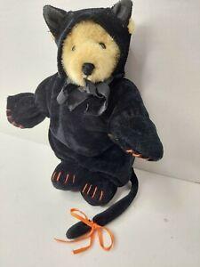 "Muffy Vanderbear Black Cat Teddy Bear 8"" Plush Halloween Costume"