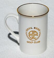 Devil Bend Golf Club Gold White Porcelain Mug AsNew Genuine Collectable Cup Gift
