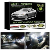 White LED Interior Light Package Kit for 2003-2007 7th Gen Honda Accord 3014 SMD