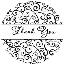 300 LABELS - 10 SHEETS -BLACK SWIRL DESIGN THANK YOU STICKERS - SEMI GLOSS