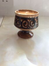 Vintage Retro Kitsch Ceramic Goblet Flower Arrangement Bowl 1960s 60s 1970s 70s