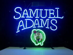 "New Samuel Adams Boston Celtics Neon Sign 17""x14"" Light Glass Beer Decor Lamp"