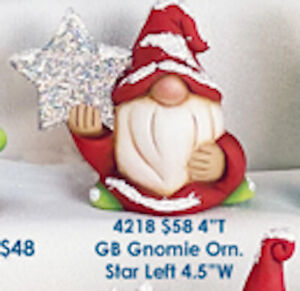 Star Gnome Set Ready to Paint   Unpainted Ceramic Bisque
