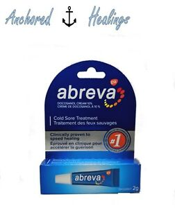 Abreva Cold Sore TUBE Treatment Docosanol Cream 10% 2g Expires 08/2022
