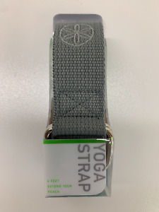 NEW IN PACKAGE Gaiam 6 Ft Yoga Strap - Gray