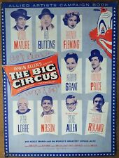 THE BIG CIRCUS, Victor Mature, Red Buttons, Rhonda Fleming, 1959, Pressbook
