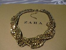 Zara mega statement Panzer Kette necklace boho top Blogger gold massiv