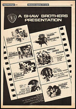 SHAW BROTHERS__Orig. 1978 Trade AD / poster__Invincible Shaolin__Avenging Eagle