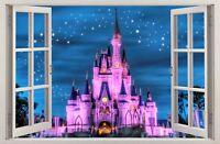 Autocollant Mural Fenêtre 3D Château de princesse Stickers muraux STICKER 11