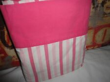 VINTAGE SPRINGMAID COMBED PERCALE PINK & WHITE STRIPE FULL FLAT SHEET 78 X 103