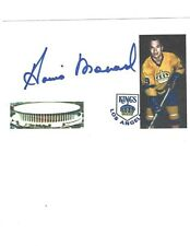 Howie Menard Signed / Autographed Index Card Los Angeles Kings