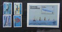 Grenada Grenadines 1983 Bicentenary of Manned Flight set & Miniature Sheet MNH