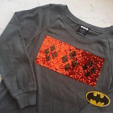NWT Harley Quinn Sequin Changing Sweatshirt Shirt Juniors Large 11/13 Batman NEW