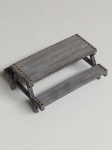 O Scale 1/48 Picnic Table Laser Cut Kit Diorama Layout