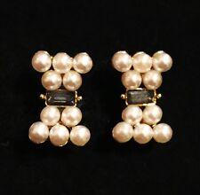 USA EARRING Rhinestone Crystal GEMSTONE Stud Fashion Pearl Bowknot