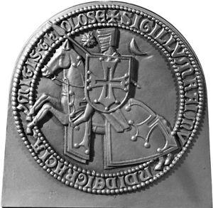 Order de Malta cast iron fireback for fireplace