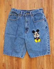 Mickey Inc Mickey Mouse Disney Vintage Blue Denim High Waist Shorts Womens S