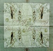 TWO (2) Paper Luncheon Napkins for Paper Crafts, Provencial