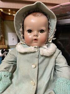 """Effanbee Dy Dee Baby Doll Circa 1940's 20"""" Tall. WONDERFUL DOLL !"""