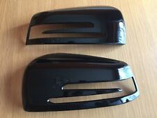 GLOSS BLACK WING MIRROR COVERS FITS MERCEDES BENZ A CLASS W176 A180 A200 A45 AMG