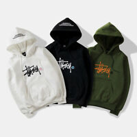 Stussy Classic Men's Women's Hipster Sweatshirt Embroidered Hip hop Hoodie #2095